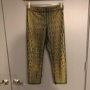 Zara Cropped Alligator Patterned Leggings